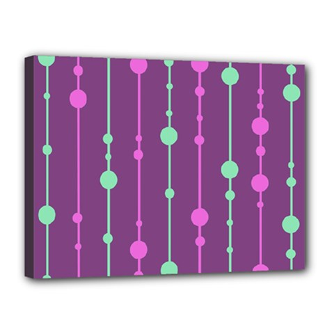 Purple and green pattern Canvas 16  x 12