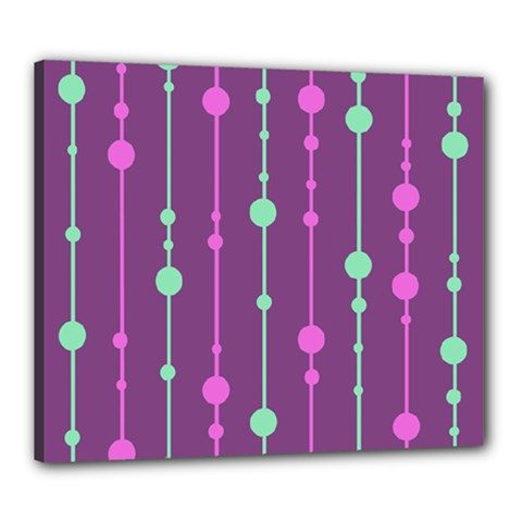 Purple and green pattern Canvas 24  x 20