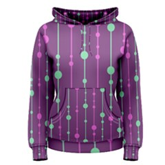 Purple and green pattern Women s Pullover Hoodie
