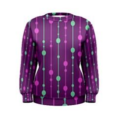 Purple And Green Pattern Women s Sweatshirt