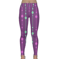 Purple and green pattern Yoga Leggings