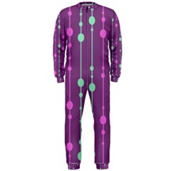 Purple and green pattern OnePiece Jumpsuit (Men)