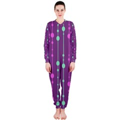 Purple and green pattern OnePiece Jumpsuit (Ladies)