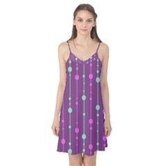 Purple and green pattern Camis Nightgown