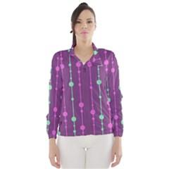 Purple and green pattern Wind Breaker (Women)