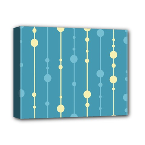 Blue pattern Deluxe Canvas 14  x 11