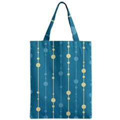 Blue pattern Zipper Classic Tote Bag