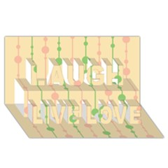 Pastel pattern Laugh Live Love 3D Greeting Card (8x4)