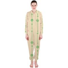 Pastel pattern Hooded Jumpsuit (Ladies)