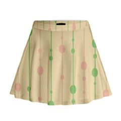 Pastel pattern Mini Flare Skirt