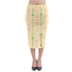 Pastel Pattern Midi Pencil Skirt