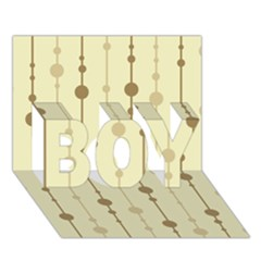 Brown pattern BOY 3D Greeting Card (7x5)