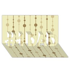 Brown pattern #1 DAD 3D Greeting Card (8x4)
