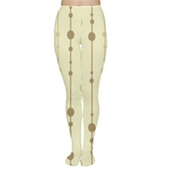 Brown pattern Women s Tights