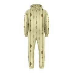 Brown pattern Hooded Jumpsuit (Kids)