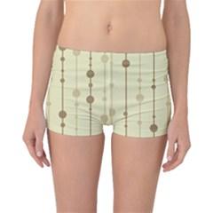 Brown pattern Boyleg Bikini Bottoms