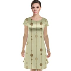 Brown pattern Cap Sleeve Nightdress