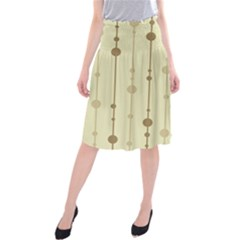 Brown pattern Midi Beach Skirt