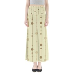 Brown pattern Maxi Skirts