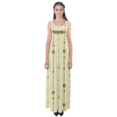 Brown pattern Empire Waist Maxi Dress
