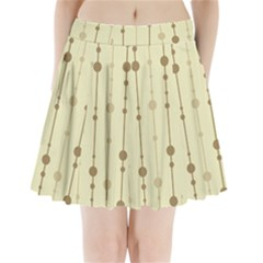 Brown Pattern Pleated Mini Mesh Skirt