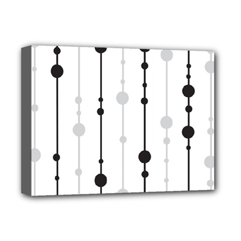 Black and white elegant pattern Deluxe Canvas 16  x 12