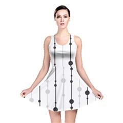 Black and white elegant pattern Reversible Skater Dress