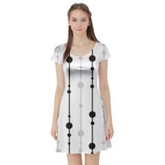 Black and white elegant pattern Short Sleeve Skater Dress