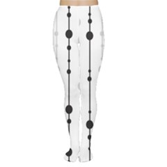 Black and white elegant pattern Women s Tights
