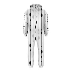 Black and white elegant pattern Hooded Jumpsuit (Kids)