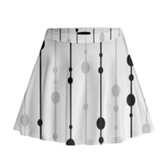 Black and white elegant pattern Mini Flare Skirt