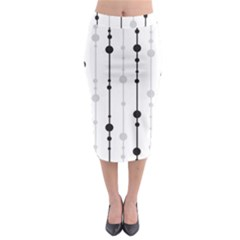 Black and white elegant pattern Midi Pencil Skirt