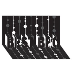 Black and white pattern BEST BRO 3D Greeting Card (8x4)