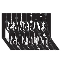 Black and white pattern Congrats Graduate 3D Greeting Card (8x4)