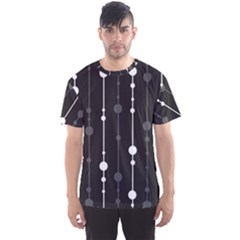 Black and white pattern Men s Sport Mesh Tee