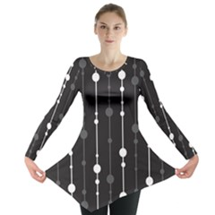 Black and white pattern Long Sleeve Tunic