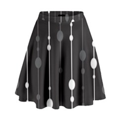 Black and white pattern High Waist Skirt