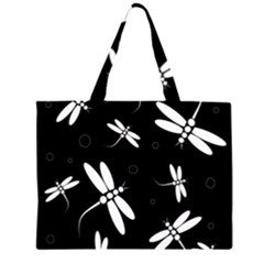 Dragonflies pattern Zipper Large Tote Bag