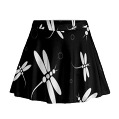 Dragonflies pattern Mini Flare Skirt