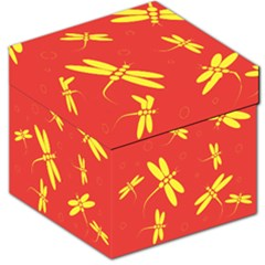 Red and yellow dragonflies pattern Storage Stool 12