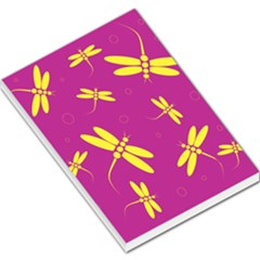 Purple and yellow dragonflies pattern Large Memo Pads
