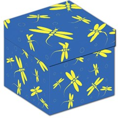 Blue and yellow dragonflies pattern Storage Stool 12
