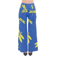 Blue and yellow dragonflies pattern Pants
