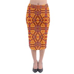 Venus Gemini Midi Pencil Skirt