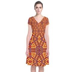Venus Gemini Short Sleeve Front Wrap Dress
