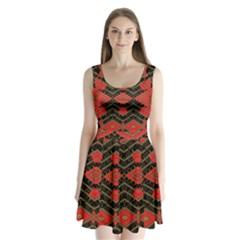 Fiction Split Back Mini Dress