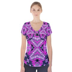 MY MAGIC EYE Short Sleeve Front Detail Top