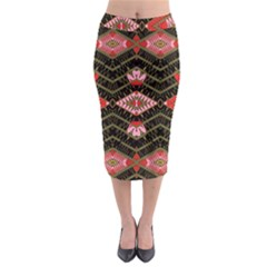 Pegasus Rom Midi Pencil Skirt