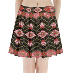 Pegasus Rom Pleated Mini Mesh Skirt