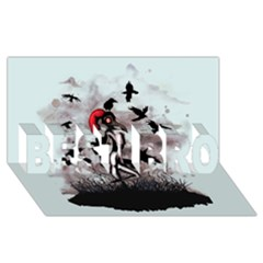 Dancing With Crows BEST BRO 3D Greeting Card (8x4)
